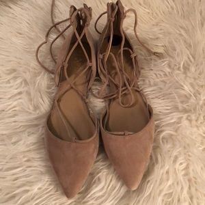 New Suede lace up flats